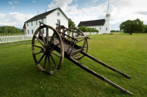 Red River cart at Batoche National Historic Site - Photo Credit: Tourism Saskatchewan/Eric Lindberg