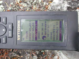GPS on the benchmark averaging for over 5 min.