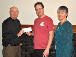 Cheque Presentation to Sask Trails Association