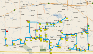 Optimal driving route according to Microsoft Streets & Trips still indicates over 1300km, and 19 hours of driving!